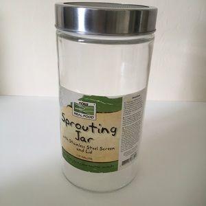 Sprouting Jar w/stainless steel screen lid 1/2 gal